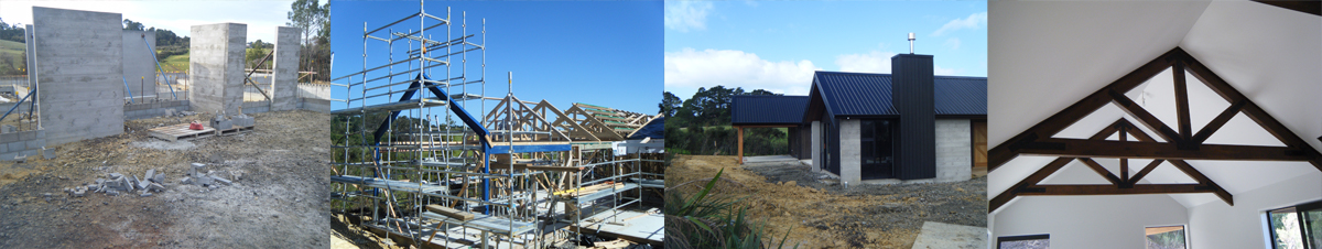 photo showing progress of new build